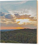 Sunset At Garden Of The Gods Wood Print