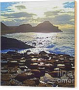 sunset at Giant's Causeway Wood Print