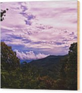 Sunset At Gorges State Park Wood Print
