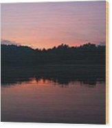 Sunset At Indian Boundary Wood Print