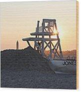 Sunset At Jones Beach Wood Print by John Telfer