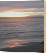 Sunset At Kalaloch Wood Print