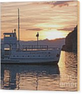 Sunset At Lake Ohrid Wood Print