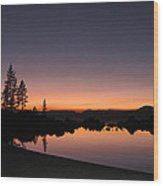 Sunset At Lake Tahoe Wood Print