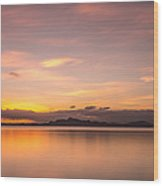 Sunset At Lake Titicaca - Peru Wood Print
