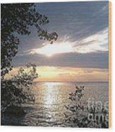 Sunset At Lake Winnipeg Wood Print