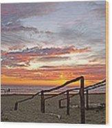 Sunset At Las Glorias Over Sea Of Cortez-sinaloa Wood Print