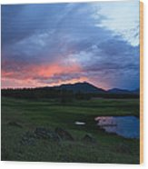 Sunset At Locke's Pond - Big Horn Mountains - Buffalo Wyoming Wood Print