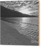 Sunset At Magens Bay Beach Wood Print
