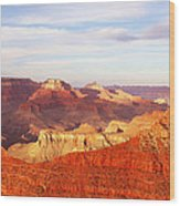 Sunset At Mather Point Grand Canyon Wood Print