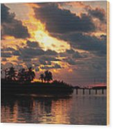 Sunset At Mitchells Keys Villas Wood Print