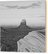 Sunset At Monument Valley, Monument Wood Print