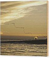 Sunset At Natural Bridges By David Kerbyson  Wood Print