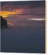 Sunset At Nevado Del Ruiz Wood Print