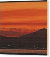 Sunset At Noosa Heads Wood Print
