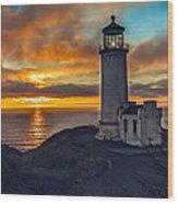 Sunset At North Head Wood Print by Robert Bales