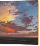 Sunset At Pacific City Wood Print