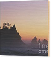 Sunset At Point Of The Arches Wood Print