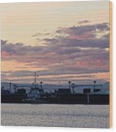 Sunset At Port Angeles Wood Print