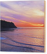 Sunset At Pv Cove Wood Print by Ron Regalado