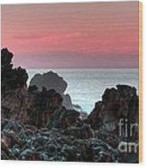 Sunset At Salt Point Wood Print