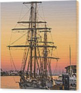 Sunset At San Pedro Wood Print