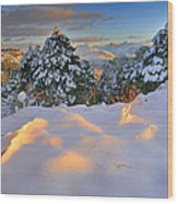 Sunset At Sierra Nevada Wood Print