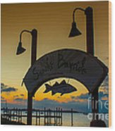 Sunset At Snooks Bayside Wood Print