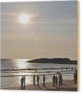 Sunset At Southern Point Of India Wood Print