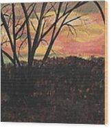 Sunset At Spring City Tenn Wood Print