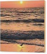 Sunset At St. Joseph Wood Print by Adam Jewell
