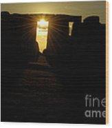 Sunset At Stonehenge 5 Wood Print by Deborah Smolinske