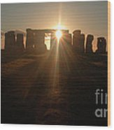 Sunset At Stonehenge 6 Wood Print by Deborah Smolinske