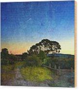 Sunset At The Baylands Wood Print