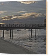 Sunset At The Beach Wood Print