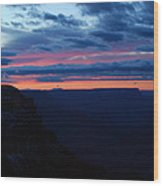 Sunset At The Grand Canyon Wood Print