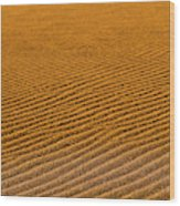 Sunset At The Great Sand Dunes National Wood Print