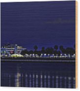 Sunset At The Iconic St. Petersburg Pier Wood Print
