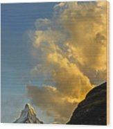 Sunset At The Matterhorn Switzerland Wood Print