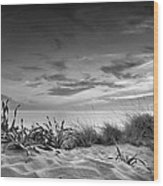 Sunset At The Mediterranean Sea Wood Print