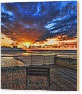 sunset at the port of Tel Aviv Wood Print