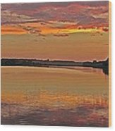 Sunset At The Rostavytsia_1 Wood Print