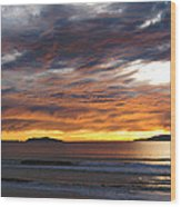 Sunset At The Shores Wood Print