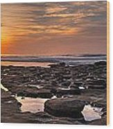 Sunset At The Tidepools II Wood Print