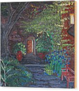 Sunset At The Villa Wood Print by Dixie Adams