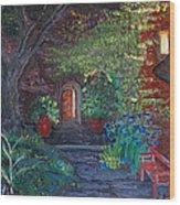 Sunset At The Villa Wood Print