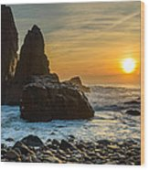 Sunset At The World's End II Wood Print
