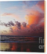 Sunset At Westport Wood Print