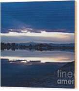 Sunset At Windsor Lake Wood Print by Dana Kern