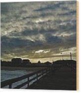 Sunset Avon Pier 1 10/15 Wood Print